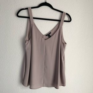 Taupe flowing blouse